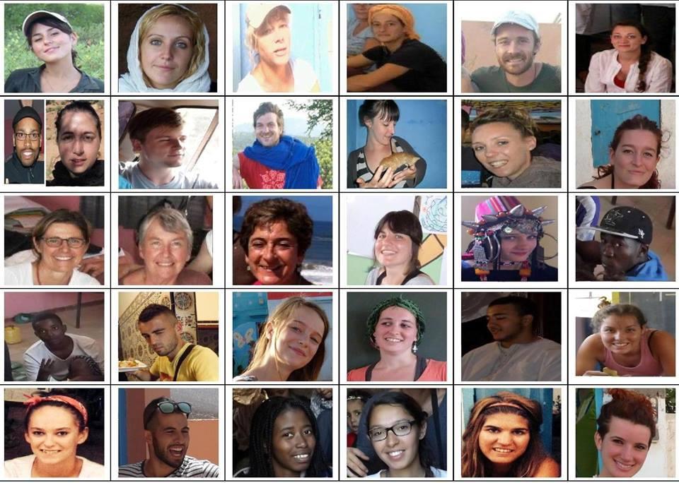 La liste des bénévoles de la Premiére mission Tafraoute N'Gaboun 2013 2015