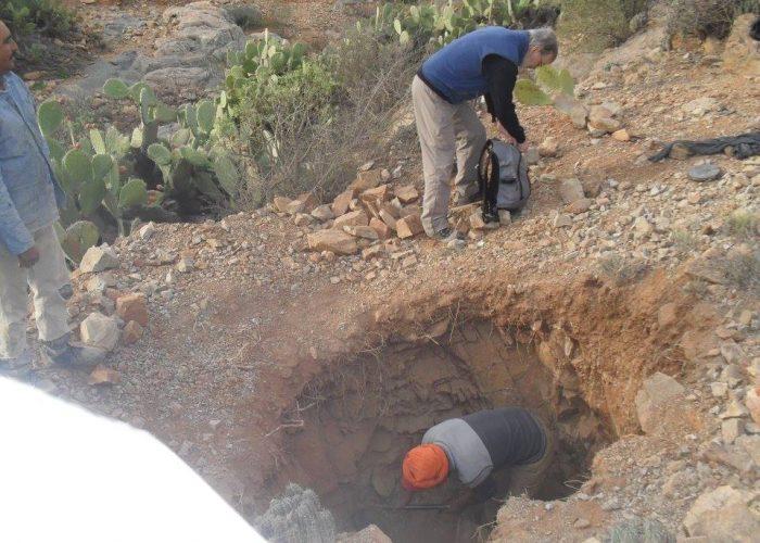 Début du creusement du puits