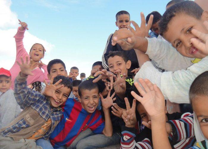 Les enfants du village de Tafraout N'Gaboune.