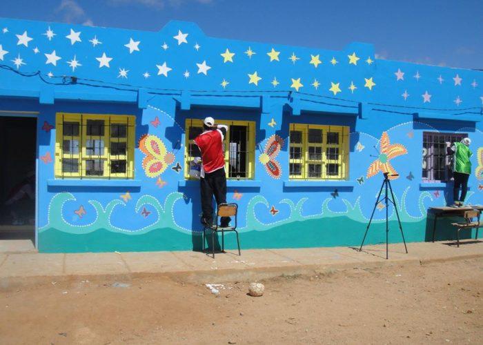 La rénovation de l'école de Tafraout N'Gaboune débute en 2013.