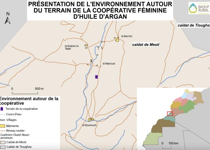 Carte de la zone du projet