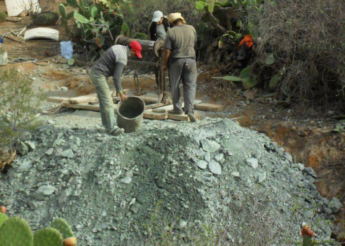 La construction du puits peut débuter.