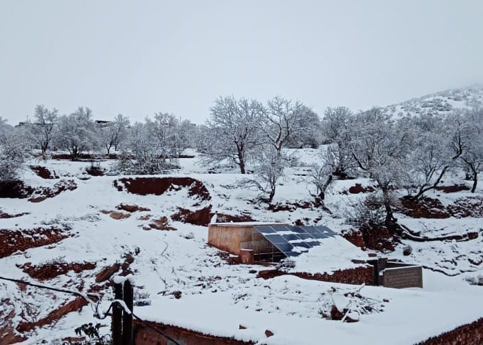 En décembre 2020, le village est recouvert de neige