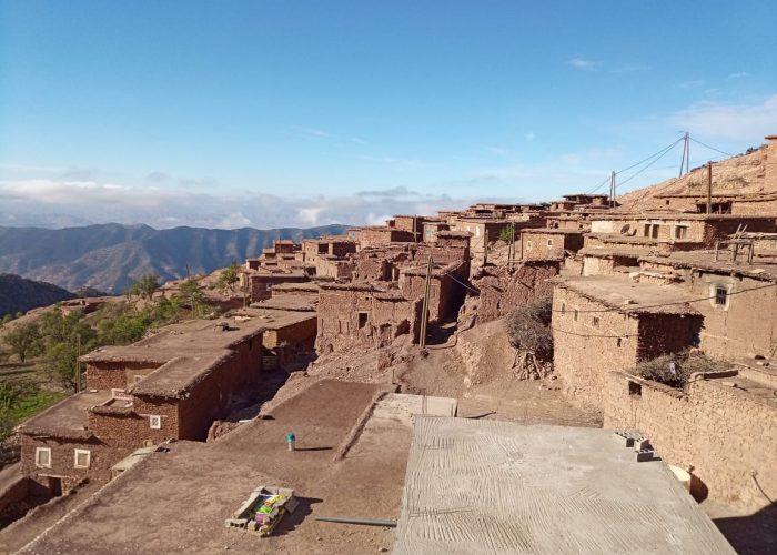 Le village de Tagoulemt localisé en altitude
